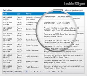 EZLynx Activities