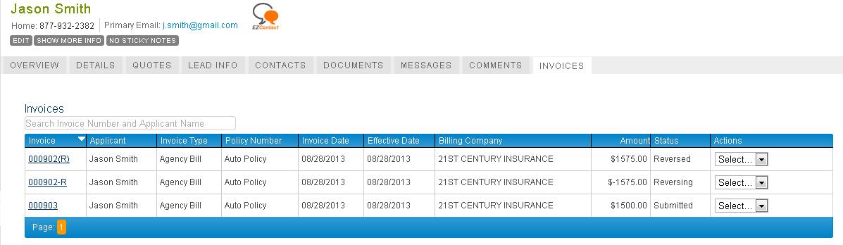 EZLynx Accounting Beta - Screenshot 1
