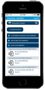 EZLynx Client Center - Mobile Document Center
