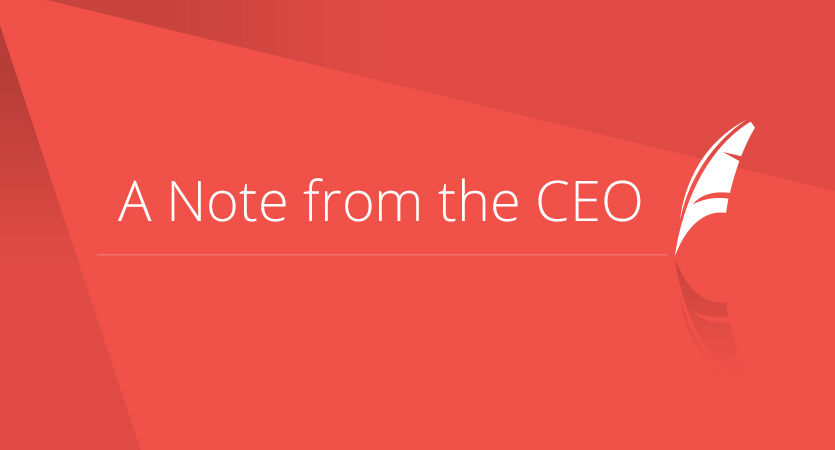 A Note from the CEO